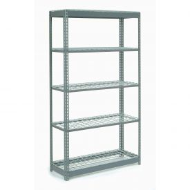 "Heavy Duty Shelving 48""W x 24""D x 60""H With 5 Shelves, Wire Deck"