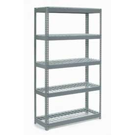 "Extra Heavy Duty Shelving 48""W x 24""D x 60""H With 5 Shelves, Wire Deck"