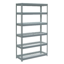 "Extra Heavy Duty Shelving 48""W x 24""D x 60""H With 6 Shelves, Wire Deck"
