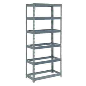 "Extra Heavy Duty Shelving 36""W x 18""D x 84""H With 6 Shelves, No Deck"