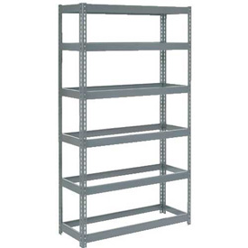 "Extra Heavy Duty Shelving 48""W x 18""D x 84""H With 6 Shelves, No Deck"