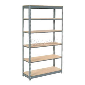 "Heavy Duty Shelving 48""W x 12""D x 84""H With 6 Shelves, Wood Deck"