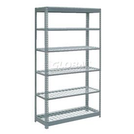 "Heavy Duty Shelving 48""W x 12""D x 84""H With 6 Shelves, Wire Deck"