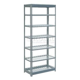 "Heavy Duty Shelving 36""W x 24""D x 84""H With 7 Shelves, Wire Deck"