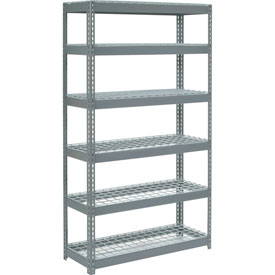 "Extra Heavy Duty Shelving 48""W x 18""D x 84""H With 6 Shelves, Wire Deck"