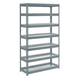 "Extra Heavy Duty Shelving 48""W x 12""D x 84""H With 7 Shelves, Wire Deck"