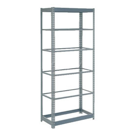 "Heavy Duty Shelving 36""W x 24""D x 96""H With 6 Shelves, No Deck"