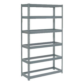 "Extra Heavy Duty Shelving 36""W x 18""D x 96""H With 6 Shelves, No Deck"