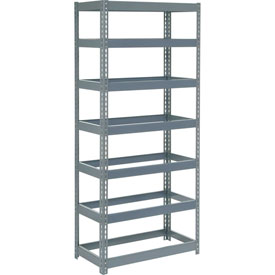 "Extra Heavy Duty Shelving 36""W x 12""D x 96""H With 7 Shelves, No Deck"