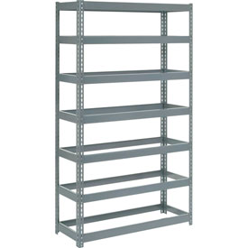 "Extra Heavy Duty Shelving 48""W x 18""D x 96""H With 7 Shelves, No Deck"