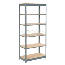 "Heavy Duty Shelving 36""W x 18""D x 96""H With 6 Shelves, Wood Deck"