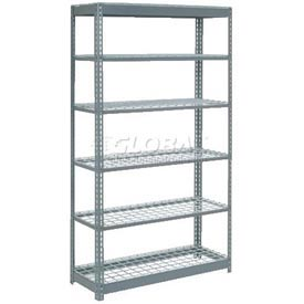 "Heavy Duty Shelving 48""W x 24""D x 96""H With 6 Shelves, Wire Deck"