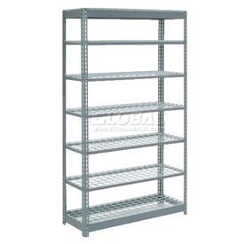 "Heavy Duty Shelving 48""W x 24""D x 96""H With 7 Shelves, Wire Deck"