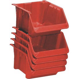 "LEWISBins Fiberglass Hopper Bin SH1811-7 Stack And Nest 18""L x 11-1/2""W x 8""H Red - Pkg Qty 10"
