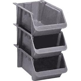 "LEWISBins Fiberglass Hopper Bin SH2411-8 Stack And Nest 24""L x 11-1/2""W x 8""H Gray - Pkg Qty 10"