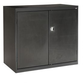 Sandusky Elite Series Counter Height Storage Cabinet EA2R462442 - 46x24x42, Black