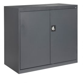 Sandusky Elite Series Counter Height Storage Cabinet EA2R462442 - 46x24x42, Charcoal
