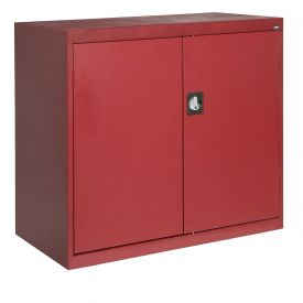 Sandusky Elite Series Counter Height Storage Cabinet EA2R462442 - 46x24x42, Red
