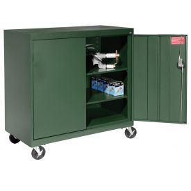 Sandusky Mobile Work Height Storage Cabinet TA2R462442 Double Door - 46x24x48, Green