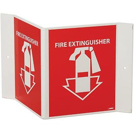 Fire Extinguisher Sign - 3-Sided Sign - Acrylic