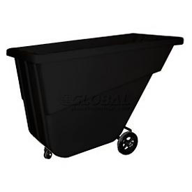 Bayhead Products Black Light Duty 5/8 Cubic Yard Tilt Truck 300 Lb. Capacity