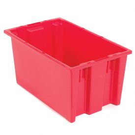 Stacking & Nesting Totes - Shipping SNT185 No Lid 18 x 11 x 9, Red - Pkg Qty 6