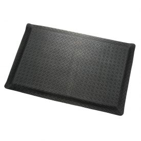"Diamond Plate Ergonomic Mat 9/16""Thick 36""Wide Black Up To 75ft"