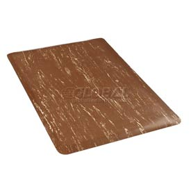 Marbleized Top 24 Inch Wide Mat Brown