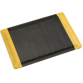 "Corrugated Safety Mat 48 Inch Wide 1/2"" Thick Black/Yellow Border"
