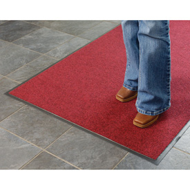 Absorbent Ribbed Mat 36 Inch Cut Size Red/Black