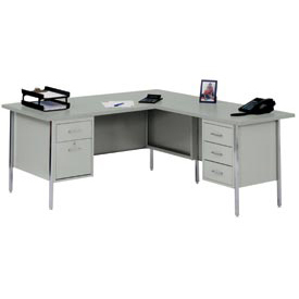 "72"" x 66"" L-Desk With Right Return-Gray/Gray Top"