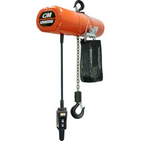 CM Lodestar Electric Chain Hoist with Chain Container - 4,000 lb. Capacity