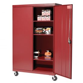 Sandusky Mobile Storage Cabinet TA3R462460- 46x24x66, Red