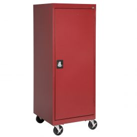 Sandusky Mobile Storage Cabinet TA3R242460- 24x24x66, Red