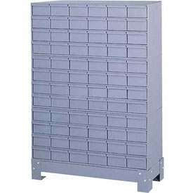 "Durham Steel Drawer Cabinet 019-95 - With 72 Drawers 34-1/8""W x 12-1/4""D x 48-1/8""H"