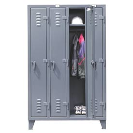Strong Hold® Heavy Duty Slim-Line Locker 46-18-1TSL - Single Tier 50x18x78 4 Door