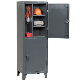 Strong Hold® Personnel Locker 26242TPL2DOOR - Double Tier 26x24x78 2 Doors Assembled Gray