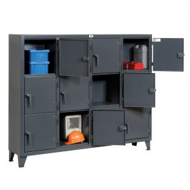 Strong Hold® Personnel Locker 75-18-3TMT - Multiple Tier 82x18x68 12 Doors Assembled Gray