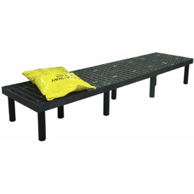 "Plastic Dunnage Rack with Vented Top 96""W x 24""D x 12""H"