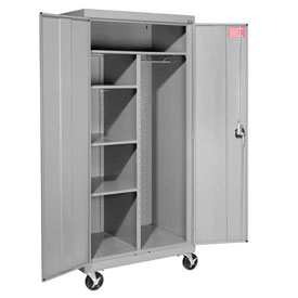 Sandusky Mobile Combination Cabinet TACR362472 - 36x24x78, Gray