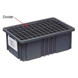 Quantum Conductive Dividable Grid Container Long Divider - DL92080CO, Sold Pack Of 6