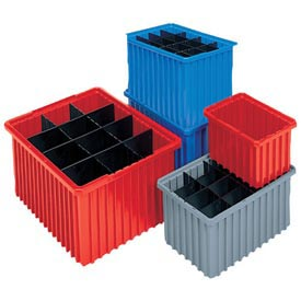 Akro-Mils Akro-Grid Dividable Container 33226 22-3/8 x 17-3/8 x 6 Red - Pkg Qty 4