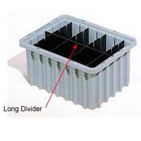 Akro-Mils Long Divider 42166 For Akro-Grids Dividable Grid Containers 33166 Pack Of 6