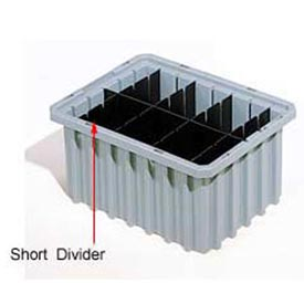Akro-Mils Short Divider 41168 For Akro-Grids Dividable Grid Containers 33168 Pack Of 6