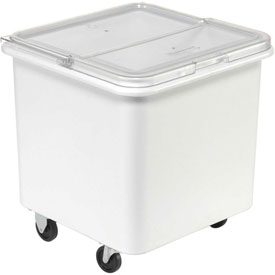 Rubbermaid® 3601 3.8 Cu. Ft. Plastic Bin Truck with Flip-Up Clear Lid