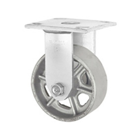 "Faultless Rigid Plate Caster 3406-4 4"" Steel Wheel"