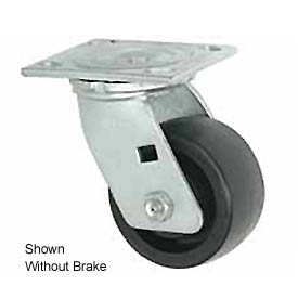 "Faultless Swivel Plate Caster 1465W-5RB 5"" Thermoplastic Wheel with Brake"