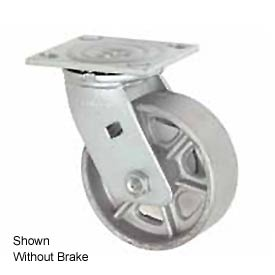 "Faultless Swivel Plate Caster 1406-6RB 6"" Steel Wheel with Brake"