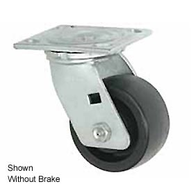 "Faultless Swivel Plate Caster 1465W-8RB 8"" Thermoplastic Wheel with Brake"