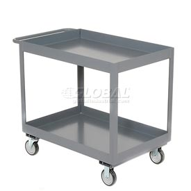 "Jamco Gray All Welded 3"" Deep Shelf Cart LT236 1200 Lb. Capacity 36x24"